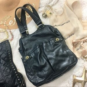 ae607d59543f Marc Jacobs Black Turnlock Hobo Double Pocket